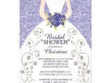 Gorgeous Bridal Shower Invitations Beautiful Bride Glitter Bridal Shower Invitation