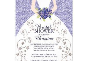Gorgeous Bridal Shower Invitations Beautiful Bride Glitter Bridal Shower Invitation