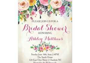 Gorgeous Bridal Shower Invitations Beautiful Floral Bridal Shower Invitation Baby Card
