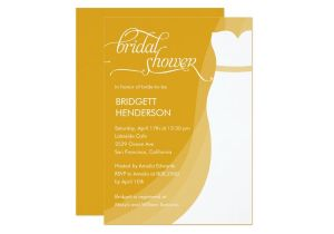 Gorgeous Bridal Shower Invitations Gorgeous Dress Bridal Shower Invitation