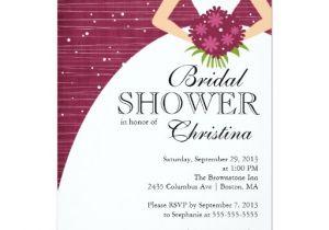 Gorgeous Bridal Shower Invitations Modern Beautiful Bride Bridal Shower Card