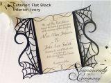 Goth Wedding Invitations Gothic Spider Web Gate Invitation Shimmering Ceremony