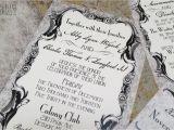 Goth Wedding Invitations Gothic Victorian Wedding Invitation Set Antique Scrolls