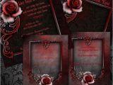 Goth Wedding Invitations Wedding Invitation Wording Gothic Wedding Invitation