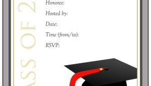 Grad Party Invites Templates 40 Free Graduation Invitation Templates Template Lab