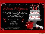 Graduation and 18th Birthday Party Invitations Celebration Cake Graduation Card Cap Invitation Diploma
