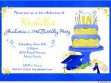 Graduation and Birthday Party Invitations Blue 18th Birthday Graduation Party Invitation Bright