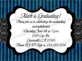 Graduation and Birthday Party Invitations Blue Graduation Birthday Party Invitation Print Your Own 5×7