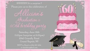 Graduation and Birthday Party Invitations Celebration Cake Graduation Card Cap Invitation Diploma