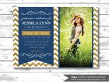 Graduation Announcement Vs Invitation Graduation Announcement Graduation Invitation Chevron