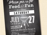 Graduation Cookout Invitations Chalkboard Cookout Invite Custom Printable Digital File