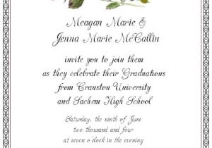 Graduation Dinner Party Invitation Wording Graduation Invitation Etiquette Template Best Template