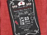 Graduation From Nursing School Invitations Nurse Graduation Party Invitation Chalkboard Style 4×6 or 5×7