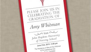 Graduation From Nursing School Invitations Nursing School Graduation Invitation Medical Graduation