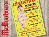 Graduation From Nursing School Invitations Operation Board Game Inspired Nursing School or Medical School