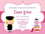 Graduation Invitation Cards for Kindergarten Kindergarten Graduation Invitation Graduation Preschool