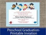 Graduation Invitation Cards for Kindergarten Preschool Graduation Invitation Diy Printable