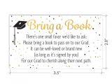 Graduation Invitation Inserts Books for Grad Request Cards Graduation Party Invitation