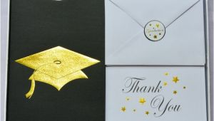 Graduation Invitation Kits Graduation Cap Deluxe Invitation Kit Gold Foil Set 24 49666