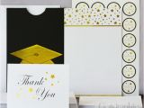 Graduation Invitation Kits Graduation Cap Deluxe Invitation Kit Gold Foil Set 24