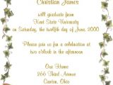 Graduation Invitation Party Wording Graduation Party Invite Wording Gangcraft Net