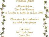 Graduation Invitation Poems Graduation Party Invitation Wording Samples Cimvitation
