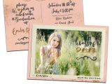 Graduation Invitation Postcards Vintage Postcard Graduation Announcement Graduation Party