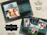Graduation Invitation Templates for Photoshop Graduation Announcement Photoshop Template Card Instant
