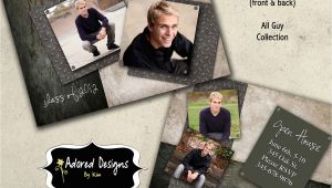 Graduation Invitation Templates for Photoshop Guy Graduation Announcement Photoshop Template Card Instant