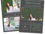 Graduation Invitation Templates for Photoshop Psd Photoshop Template Senior Graduation Announcement Card