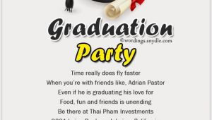 Graduation Invitation Wordings Graduation Party Invitation Wording Wordings and Messages