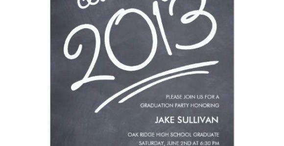Graduation Invitation Writing Chalkboard Writing Graduation Invitation Zazzle Com