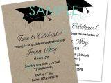 Graduation Invitation Writing Graduation Mortar Board Invitation Template Sample