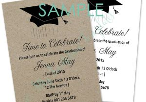 Graduation Invitation Writing Graduation Mortar Board Invitation Template Sample