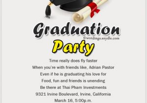 Graduation Invitation Writing Graduation Party Invitation Wording Wordings and Messages