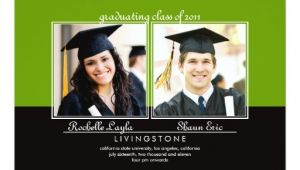 Graduation Invitations for Two Siblings Two Photo Graduation Announcement Zazzle