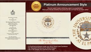 Graduation Invitations In El Paso Tx University Of Texas at El Paso Graduation Announcements