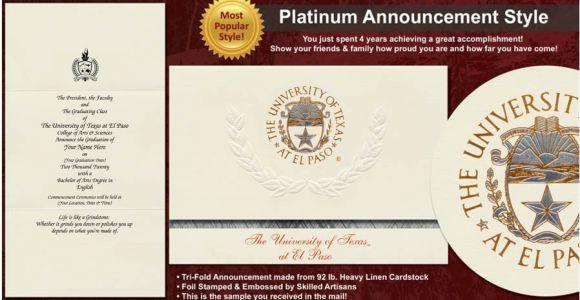 Graduation Invitations In El Paso Tx University Of Texas at El Paso Graduation Announcements