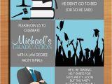 Graduation Invitations Masters Degree Law Degree Blue Graduation Party Invitation Cards Printable