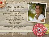 Graduation Open House Invites Rustic Graduation Open House Invitation by Gwenmariedesigns