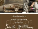 Graduation Open House Invites Simply Classic Custom Photo Graduation Open House