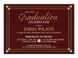 Graduation Party Invitation Borders Gold Square Border Graduation Party Invitation