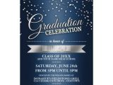 Graduation Party Invitations for Two Blue Silver Confetti Graduation Party Invitations Zazzle Com