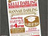 Graduation Party Invitations for Two Items Similar to Two Graduates High School or College