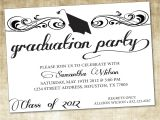Graduation Party Invitations Word Templates Unique Ideas for College Graduation Party Invitations