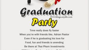 Graduation Party Invite Wording Graduation Party Invitation Wording Wordings and Messages