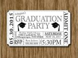 Graduation Party Ticket Invitations Graduation Party Invitation Ticket Printable