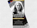 Graduation Party Ticket Invitations Graduation Party Ticket Invitations or Announcement by