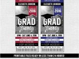 Graduation Party Ticket Invitations Graduation Ticket Invitation Grad Party Any Accent by