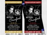 Graduation Party Ticket Invitations Item Details
